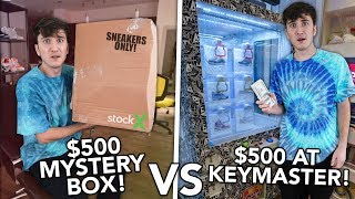 $500 SNEAKER MYSTERY BOX vs $500 AT THE KEYMASTER MACHINE!