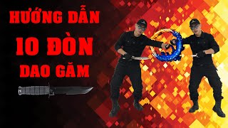 10 đòn dao găm cơ bản - Eskrima Knife Technique - Mr. Huy Côn