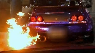 FIRE-Shooting Nissan Skyline R33 GTR in London! (madness and detail)