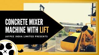 Concrete Mixer With Lift Hoist | 90512 34444 | Concrete Lift Machine Video: Jaypee