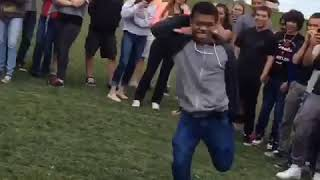 Dancing during a fire drill