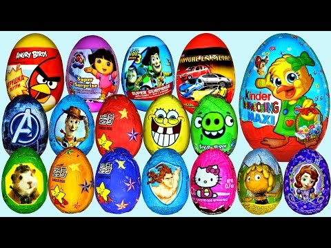 50 Surprise eggs Ну, погоди! Маша и Медведь Kinder Surprise Peppa Pig Dora the Explorer Surprise