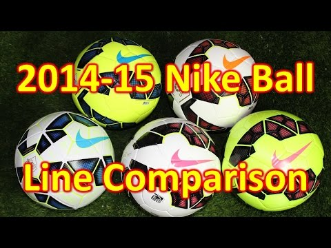 Nike 2014-15 Soccer Ball/Football Line Comparison & Review