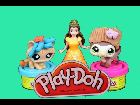 Play Doh Belle gives LPS Littlest Pet Shop new HAIRSTYLE AlltoyCollector