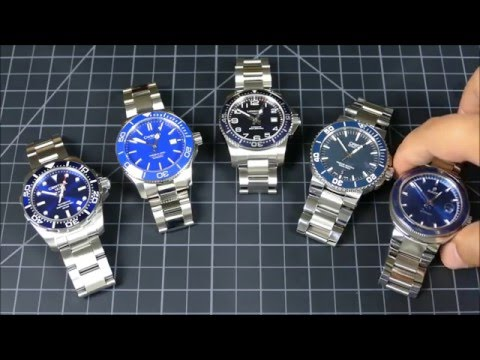On the Wrist, from off the Cuff: The Ultimate Affordable Blue Swiss Auto-Diver Face-off
