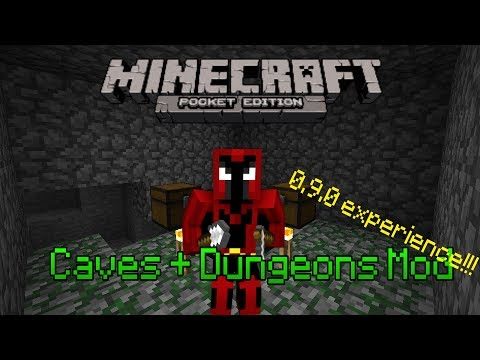 Caves + Dungeons Mod - Minecraft PE Mod Showcase