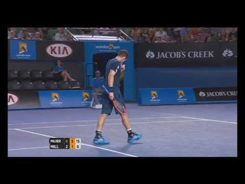 Australian Open Tennis Championships 2014 Highlights | Andy Murray and Vincent Millot
