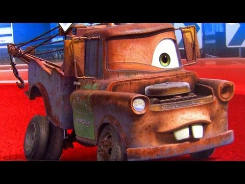 One Eye Mater Cars 2 toys Glow in the Dark Mater diecast Lenticular Eyes Disney Pixar toy review