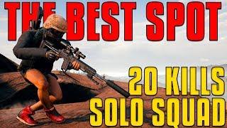 THE BEST SPOT - 20 Kills, Solo Squad | PUBG
