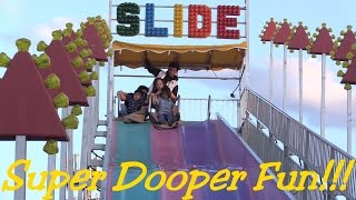 Amusement Park Rides: Outdoor Kiddie Slide Theme Park Style Playtime w/ Hulyan & Maya