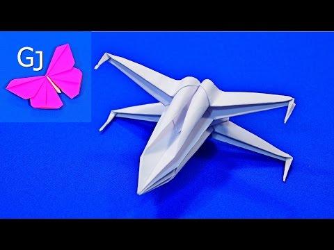 Как сделать из бумаги самолёт из звёздных войн