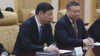 中国特使、金氏側近と会談