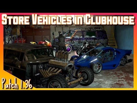 Store Vehicles In MC Clubhouse   GTA V Online Gameplay
