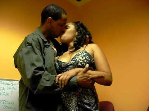 Ebony deep kissing