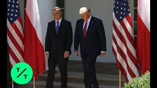 Trump, Polish President Andrzej Duda Hold Joint News Conference at the White House
