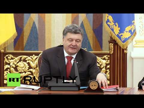 Ukraine: Poroshenko calls for 'new local elections in Donetsk, Lugansk'