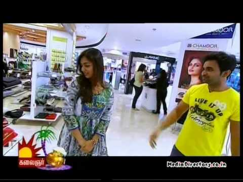 Kalaignar TV   Vj / Anchor Thanigai   Yennakku Pidhitha Neeram Actress Nazria Interview