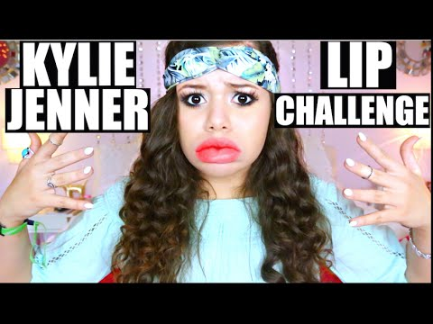 KYLIE JENNER LIP CHALLENGE GONE WRONG!?   Krazyrayray