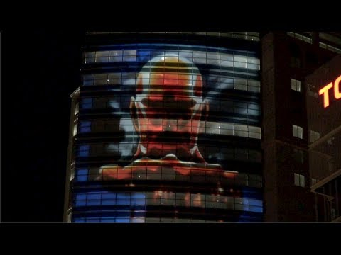 """Attack on Titan"" projection mapping"