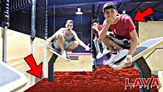 DO NOT PLAY THE FLOOR IS LAVA CHALLENGE AT TRAMPOLINE PARK! *OMG SO INSANE*