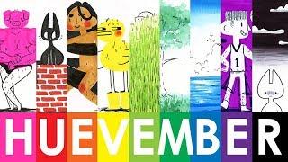 HUEVEMBER - 24 Doodles With Koi Watercolor Pens