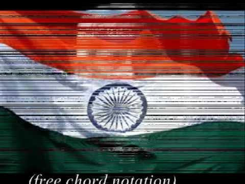 INDIAN NATIONAL ANTHEM Guitar Chord Tab Piano Notation Full Song HD