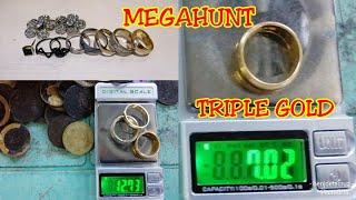 Triple Gold, Silvers, Coins, Fun Metal Detecting  Night Hunting  Beach Detecting