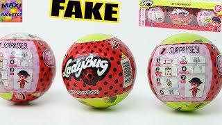 Muñecas LOL suprise falsas | Ladybug 🐞