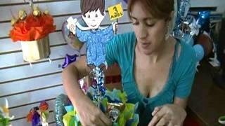 Centro de mesa para presentación www.arreglobos.com