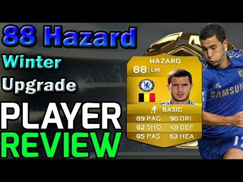 Fifa 14 Ultimate Team Hazard 88 Winter Upgrade Player Review In game Stats and Comparison!