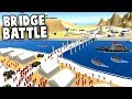 Giant BRIDGE BATTLE! (Ravenfield New Map Gameplay)  Quad Jump Stunt on Bridge!