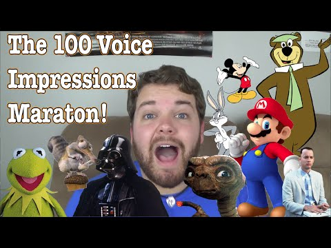 Man does 100 impressions in 4 minutes