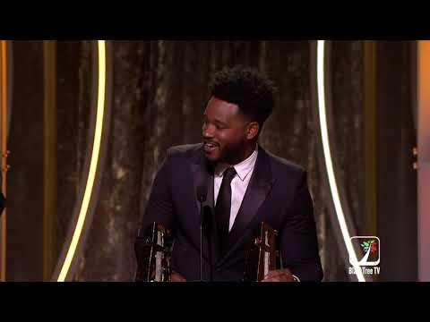 Ryan Coogler Receives An Award For Black Panther At The Hollywood Film Awards