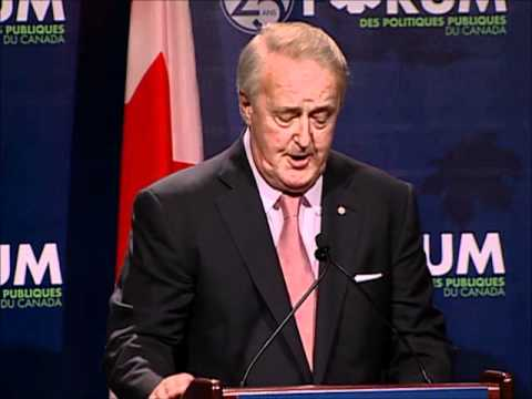 The Right Hon. Brian Mulroney at the 25th Annual Testimonial Dinner