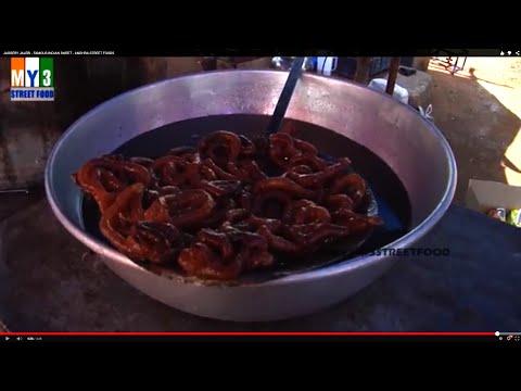 JAGGERY JALEBI  - FAMOUS INDIAN SWEET - ANDHRA STREET FOODS