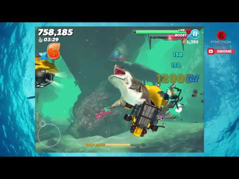 Hungry Shark World |  Megalodon  Gameplay In The Arabian Sea
