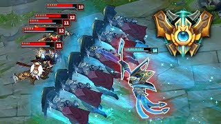 What a Challenger Azir Wall Looks Like | League of Legends Top 5 Plays