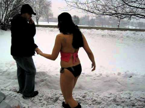WZZO's Bikini Snow Angel!