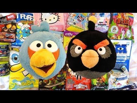 Angry Birds & Friends blind bags. Mash'ems. Power Rangers. Marvel. SpongeBob