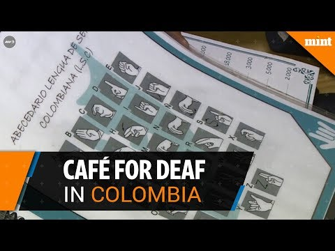 """Without Words"" - A cafe for deaf people in Colombia"