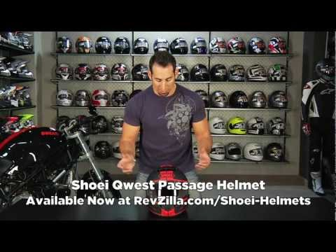 Shoei Qwest Passage Helmet Review http://www.revzilla.com/motorcycle