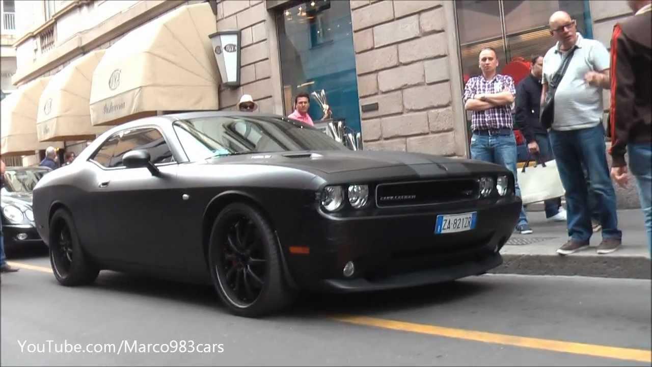 Damaged Dodge Chellenger Srt8 Hemi In Matte Black In Milan