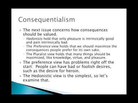 Deontology vs. Consequentialism Part 1