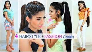 4 Easy HAIRSTYLE & FASHION Looks For Teenage/College Girls   #Partylook #Beauty #Anaysa