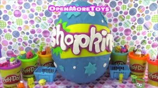 Shopkins Season 1 Giant Playdoh Surprise Egg  Limited Edition Hunt