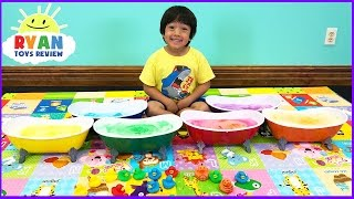 Learn Colors with Surprise Toys Bath Bombs for Kids! Teach Colours for Children Toddlers and Babies