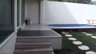 Como Diseñar Una Casa. Fachada Interior Jardin y Alberca
