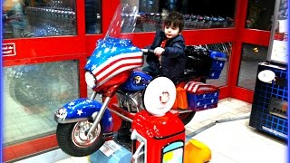 Motorcycle For Children INDOOR PLAYGROUND Area - Videos for Babies