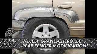 WJ JEEP GRAND CHEROKEE REAR FENDER RESHAPING-TRIMMING