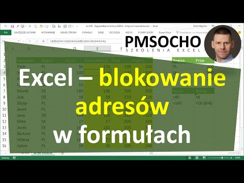 EXCEL - Blokowanie adresów w formułach